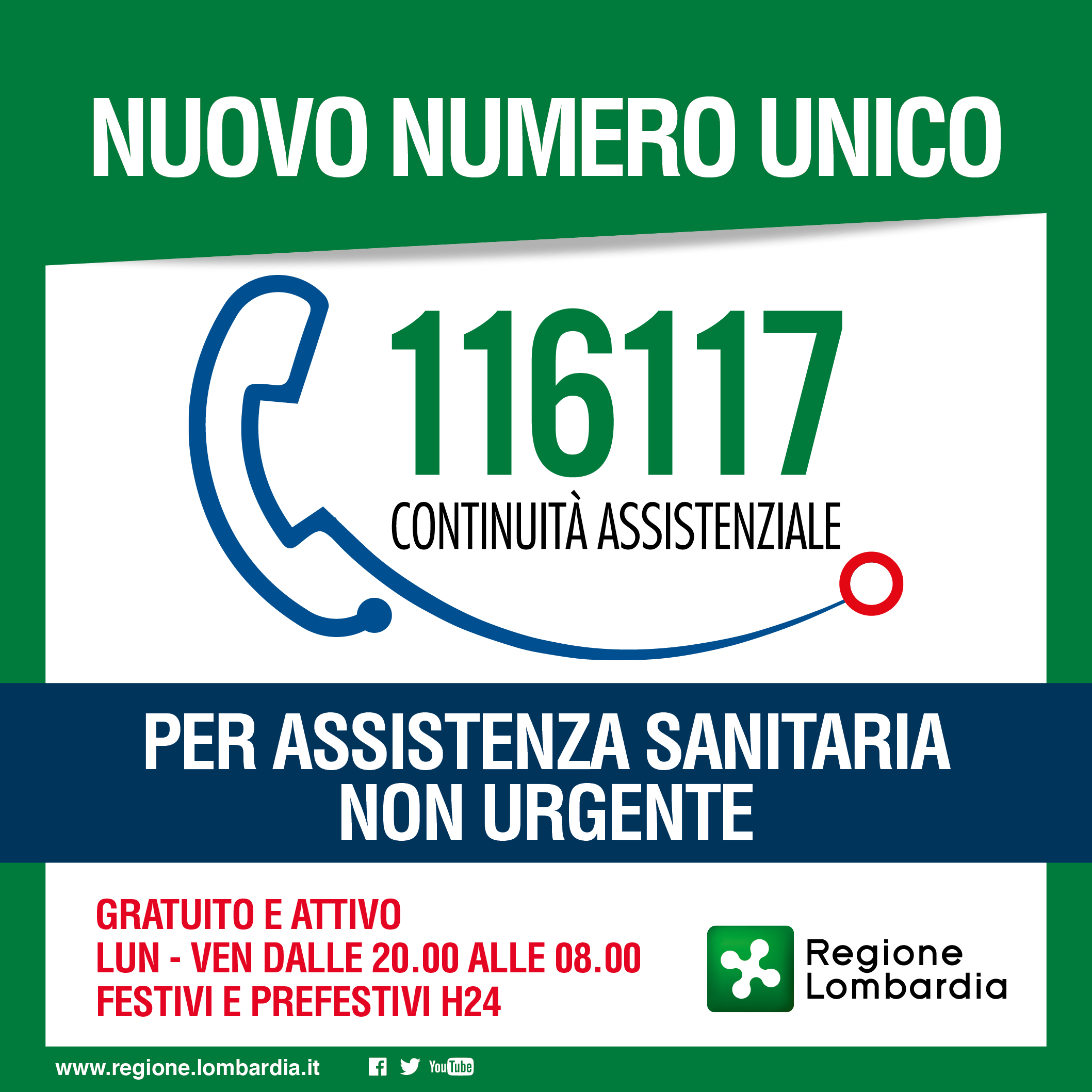 card NUMERO UNICO 116 117