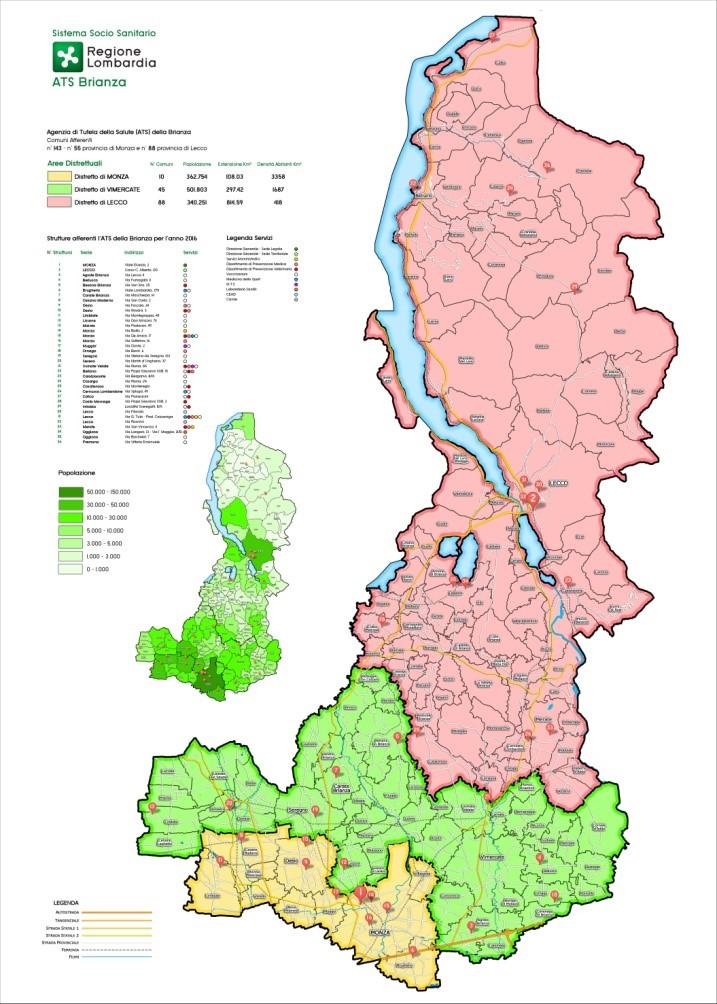 Cartina Geografica Della Brianza.Agenzia Ats Brianza